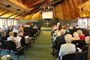Worship service in the West Campus Chapel