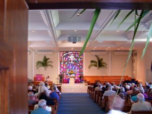 Palm Sunday in East Campus Sanctuary