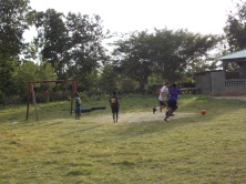 Playing soccer as a great way to get to known each other and interact