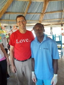 Pastor Tom with one of the Haitian students Jemps who became friends during the week