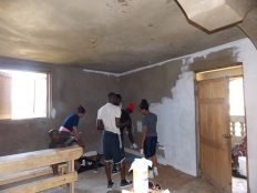 Starting the paint the kitchen / dining hall
