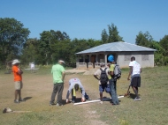 Building of the soccer goals