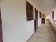 The finished hallway outside the classrooms