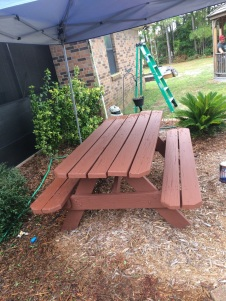 bench AFTER paint