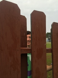 nice smile during fence repairs
