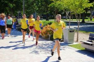 during the walk / run