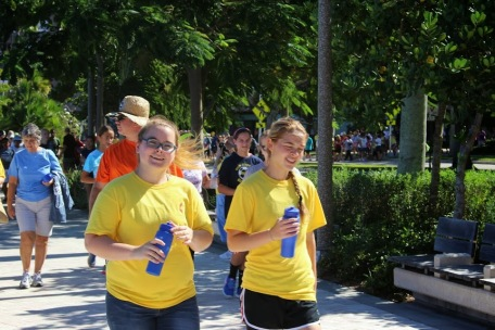 during the walk / run