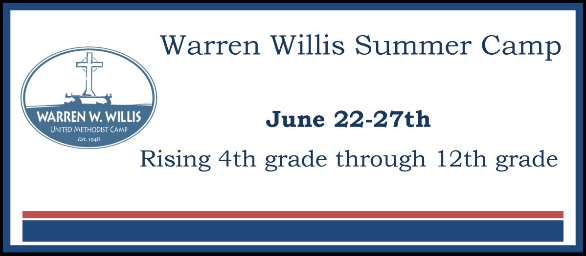 Warren Willis Camp website banner