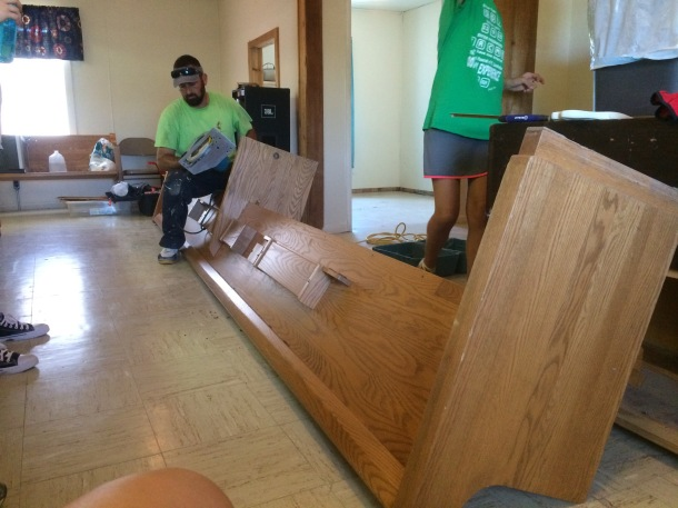 Leveling some pews