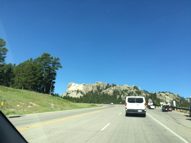 Driving to Mount Rushmore
