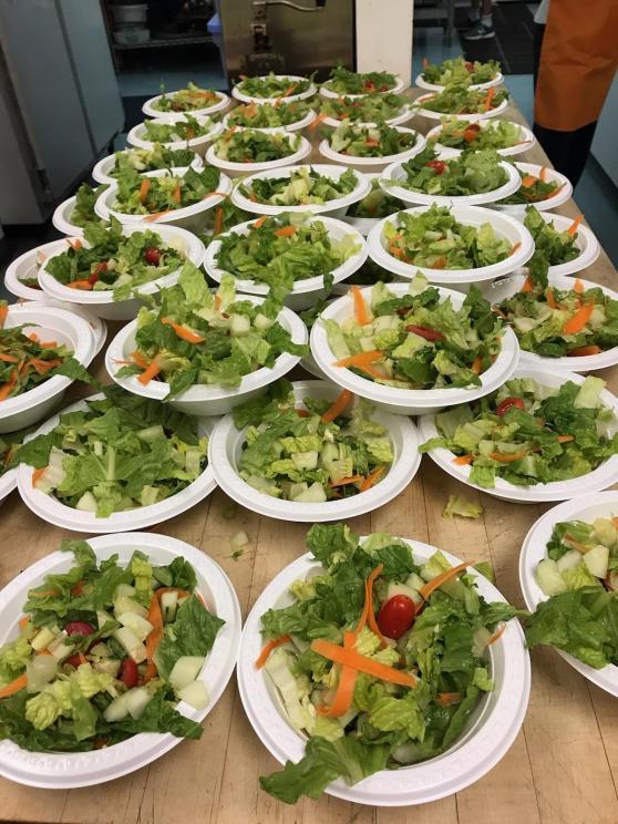 pp dinner salads